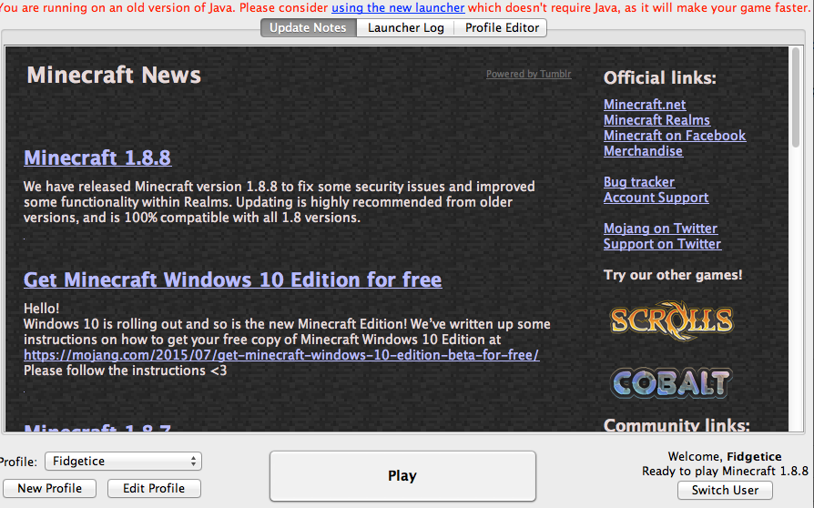 minecraft launcher mac free