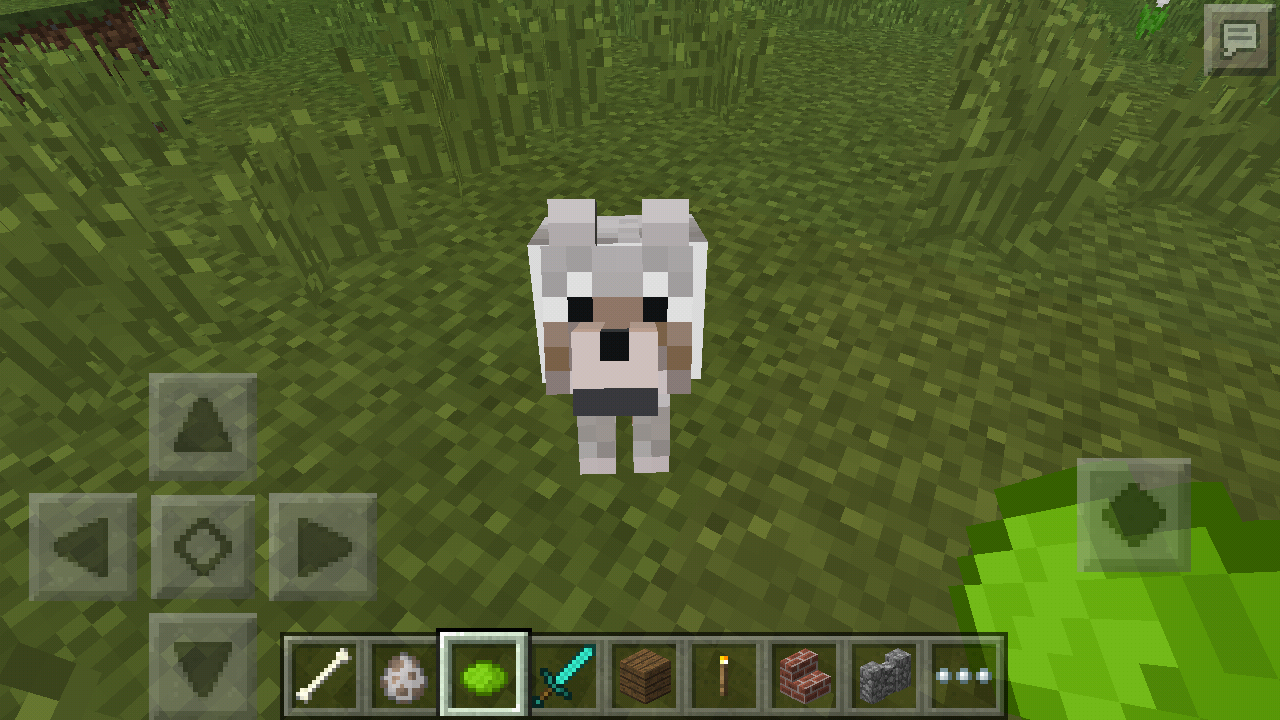 how to change dog collar color in minecraft pe
