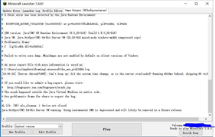 MCL-4503] Java HotSpot(TM) 64-Bit Server VM warning: Using