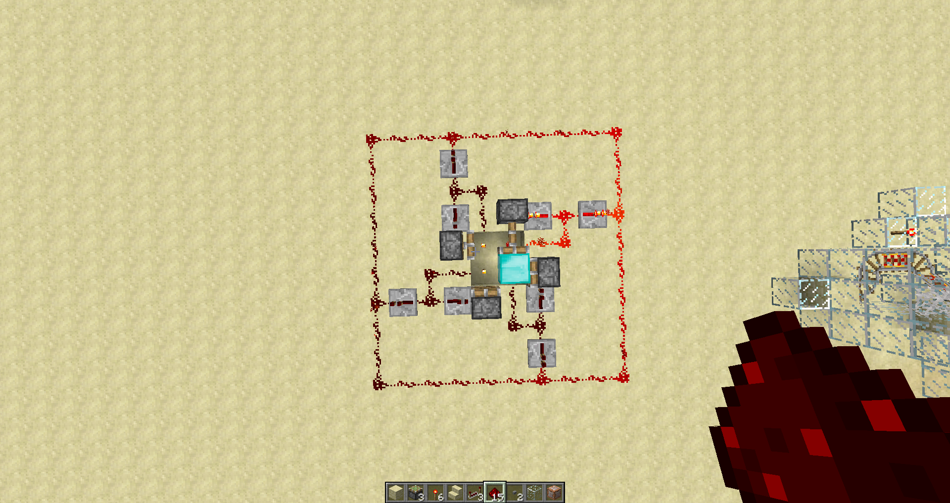 Mc 2167 The Following Setup Makes Block A Indestructable Jira Minecraft Wiki Redstone Circuits 2012 11 04 113617