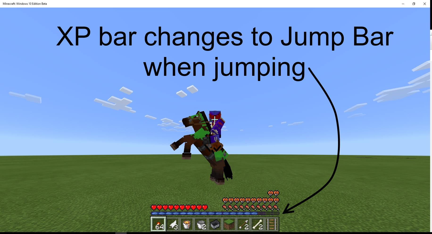 Mcpe 16401 Jump Bar Missing When You Riding Horse Jira
