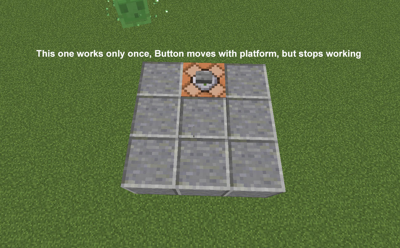 how to put a button on a command block