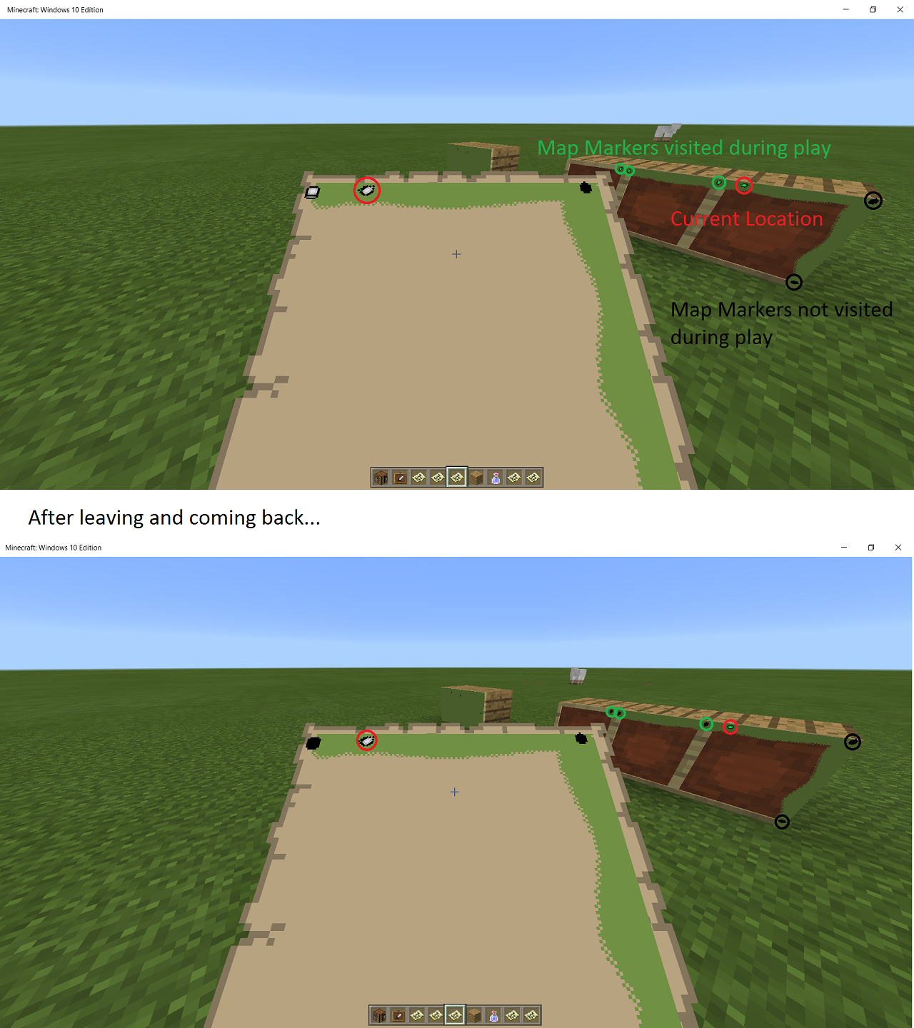 MCPE-14015] Map Markers far from the player's location disappear
