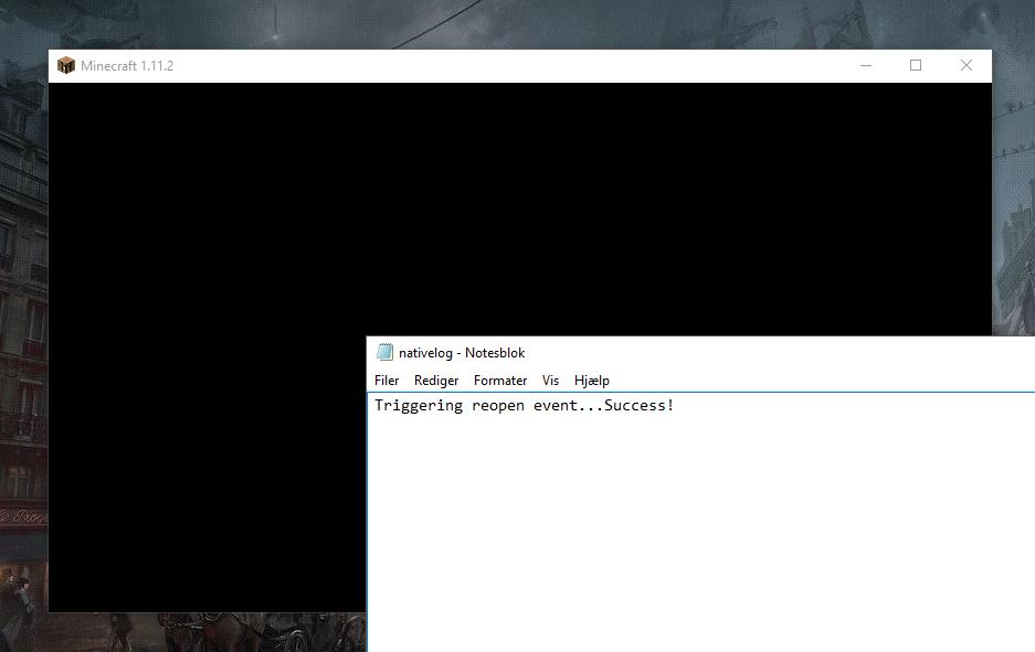 MC-113293] Black Screen - No Loading - Jira