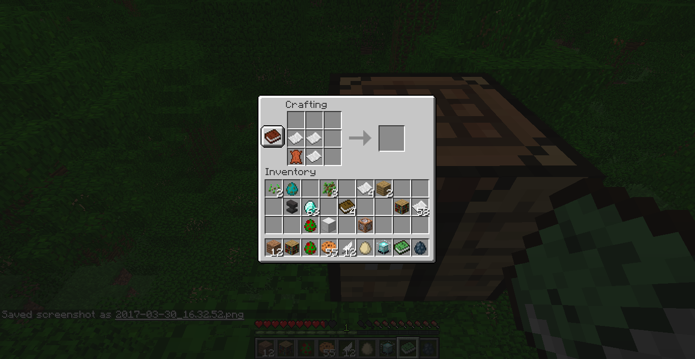 Crafting Book Doesn T Work