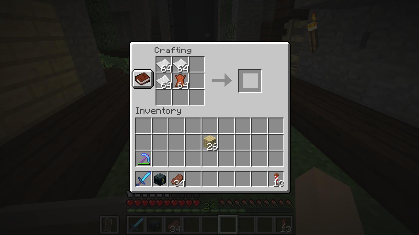 Minecraft Crafting Book Not Working