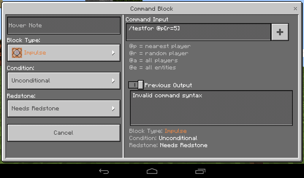 MCPE-21357] Commands that uses Arguments on target selectors doesn't