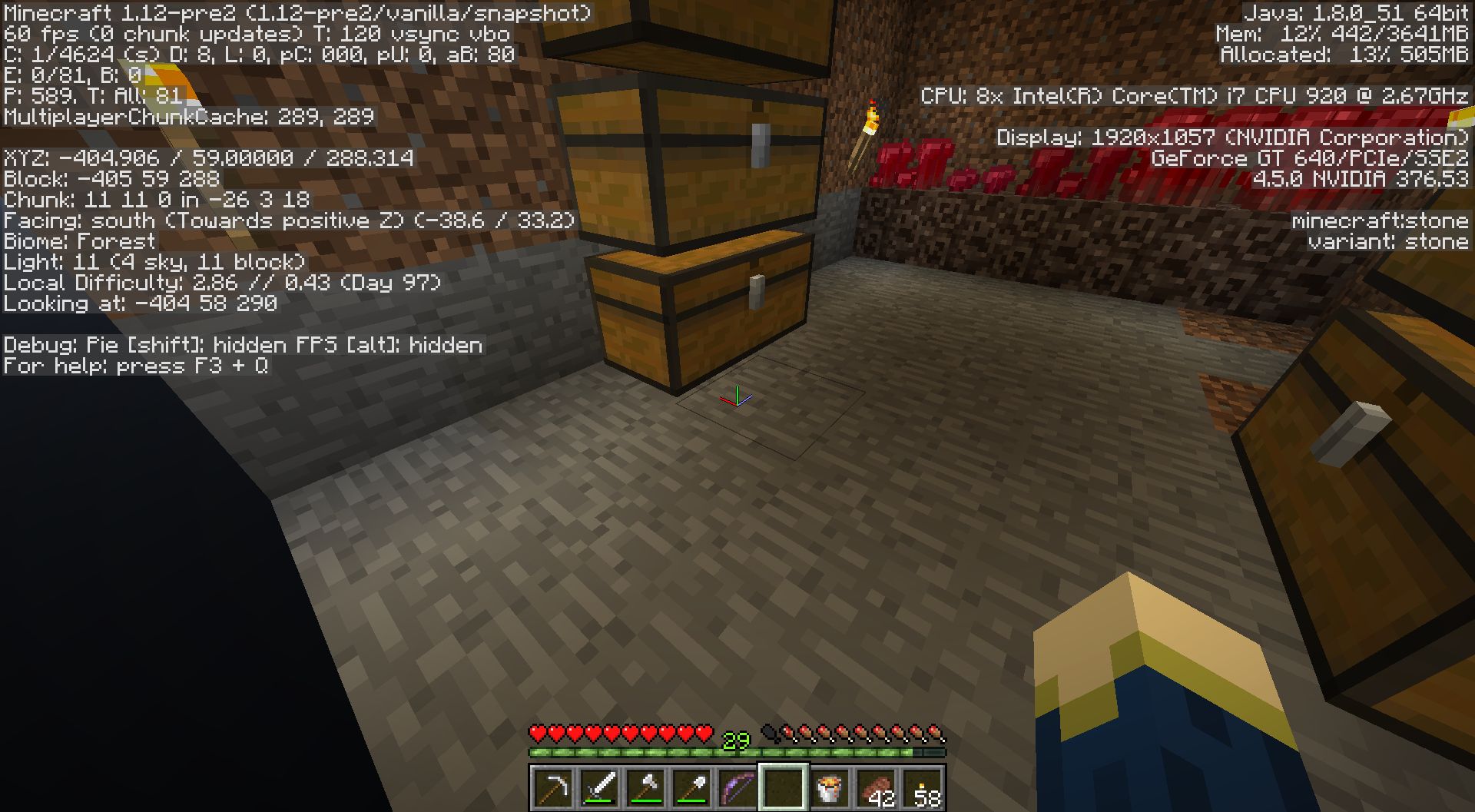 MC-63020] Chunks are not rendered in first person in some