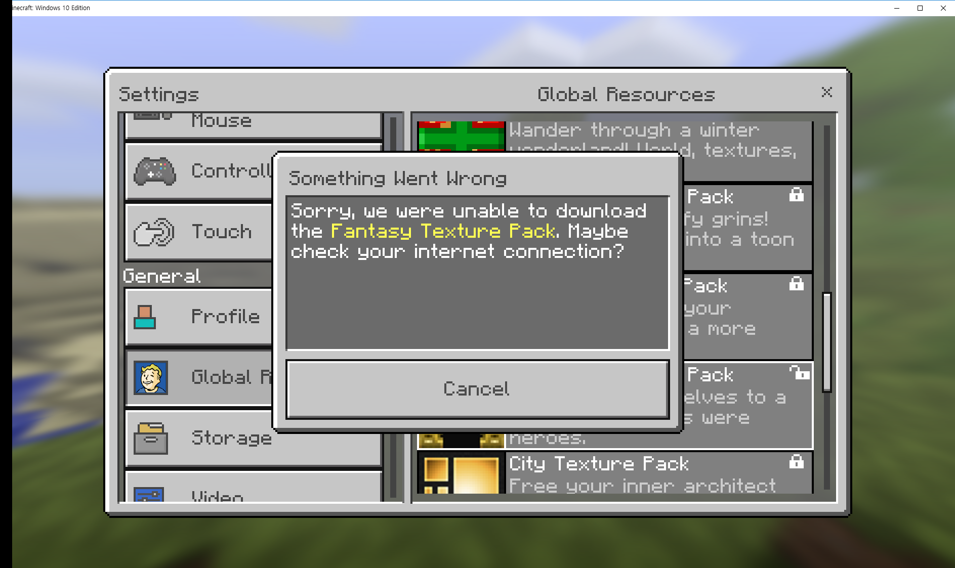 MCPE-22022] Windows 10 Edition All resources download failed