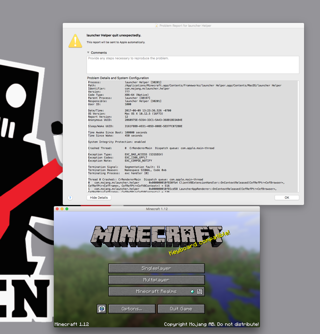 minecraft launcher not opening mac
