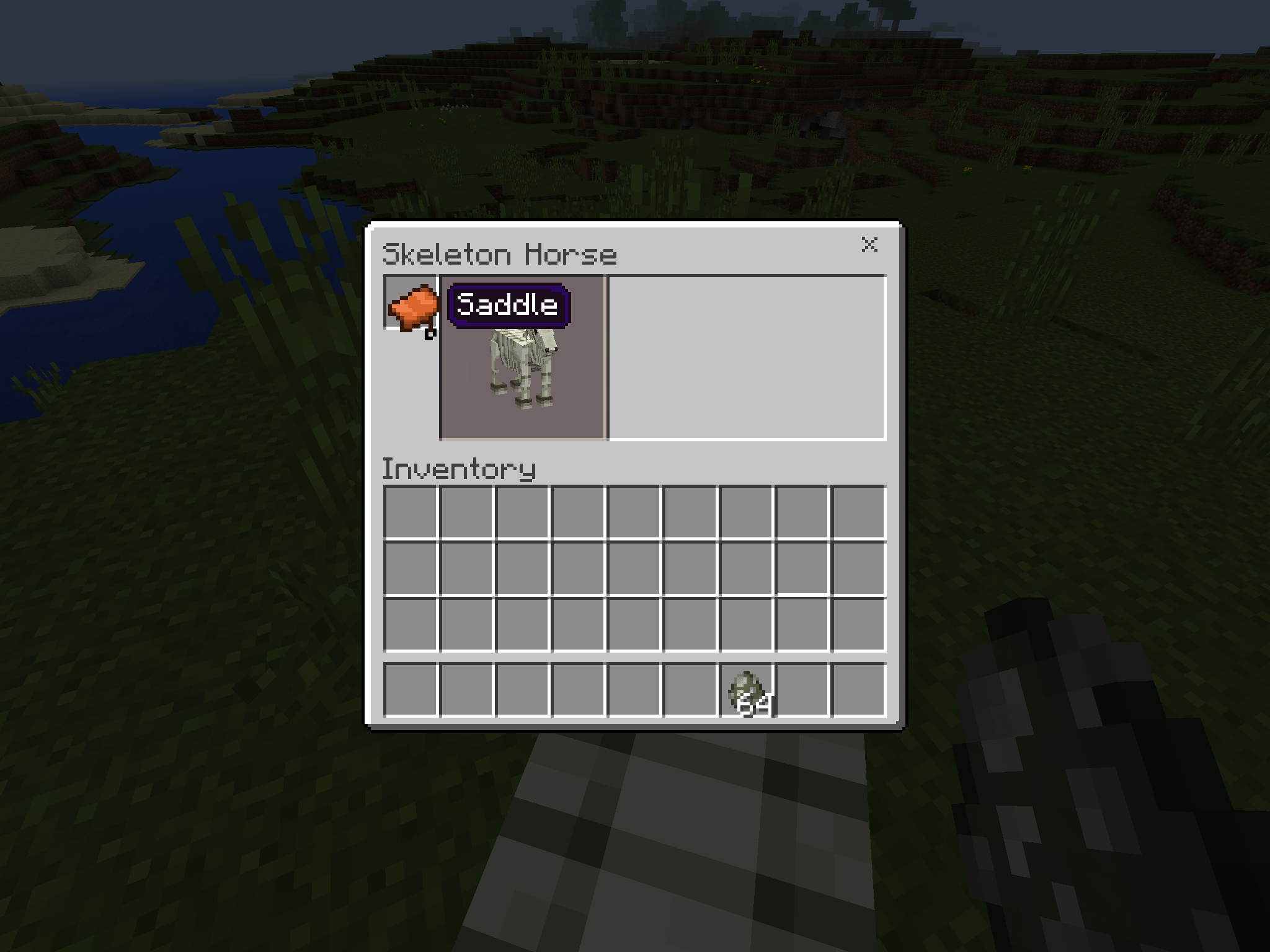 how to put a saddle on a horse minecraft pe