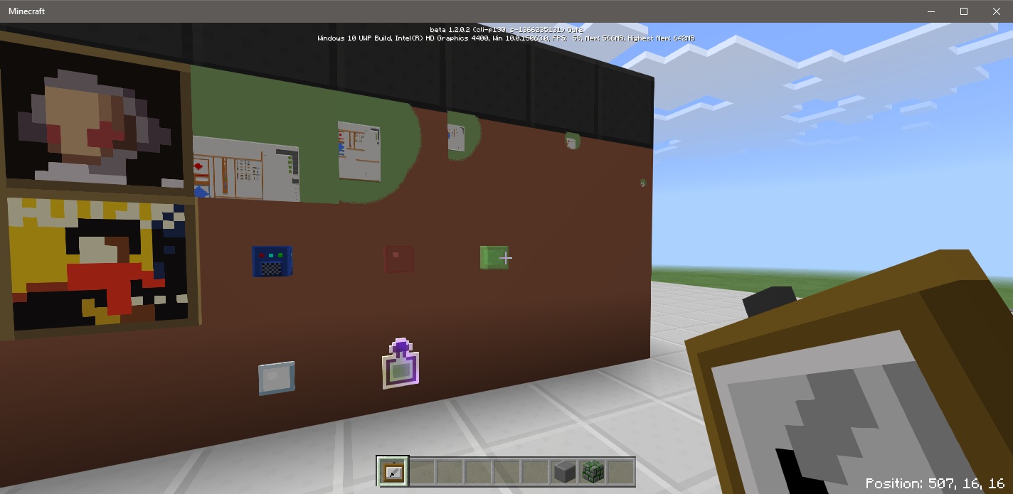 MCPE-24305] item frames are invisible in the plastic texture pack - JIRA