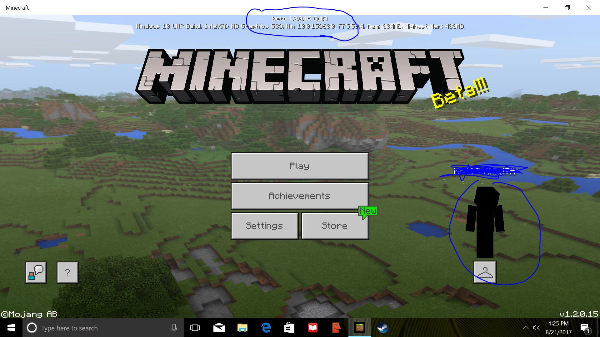 MCPE Custom Skin Cannot Be Chosen And Or Appears Black Jira - Skins para minecraft windows 10 edition beta