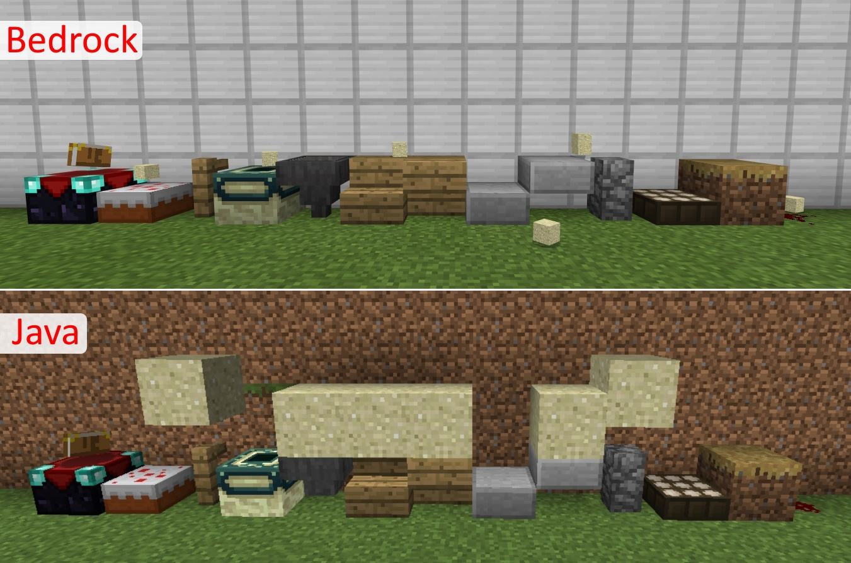 minecraft java vs bedrock differences