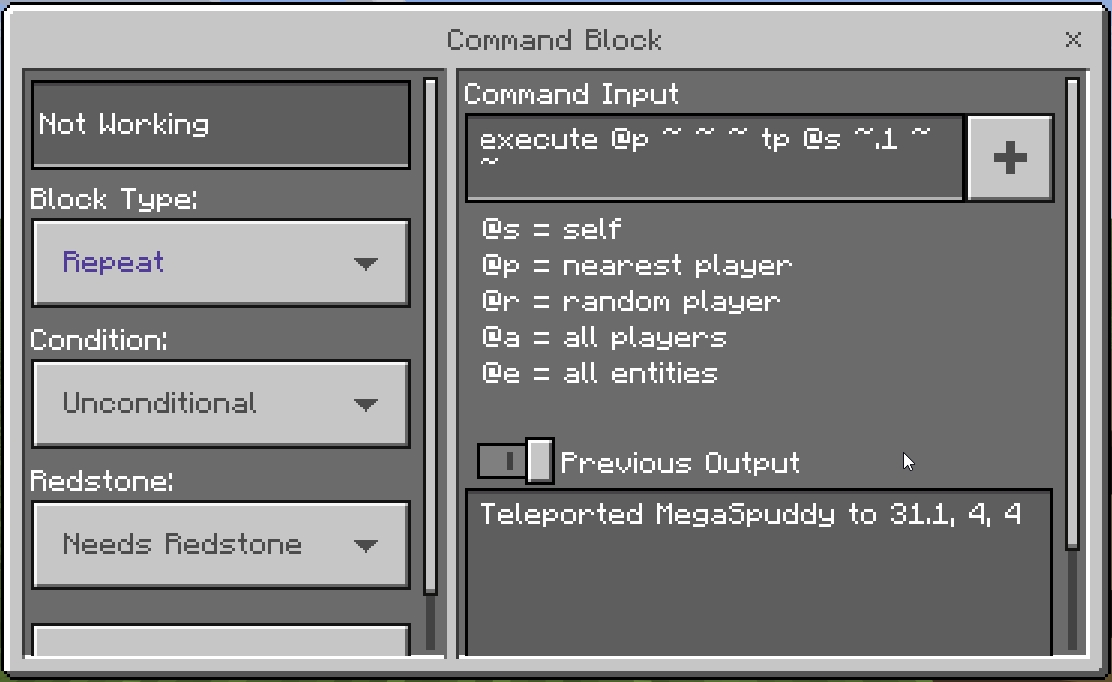 MCPE-25534] Issue when teleporting with relative coordinates
