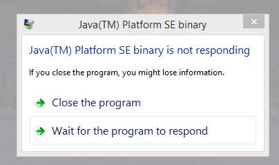 MC-122028] Java(TM) Platform SE binary is not responding - Jira