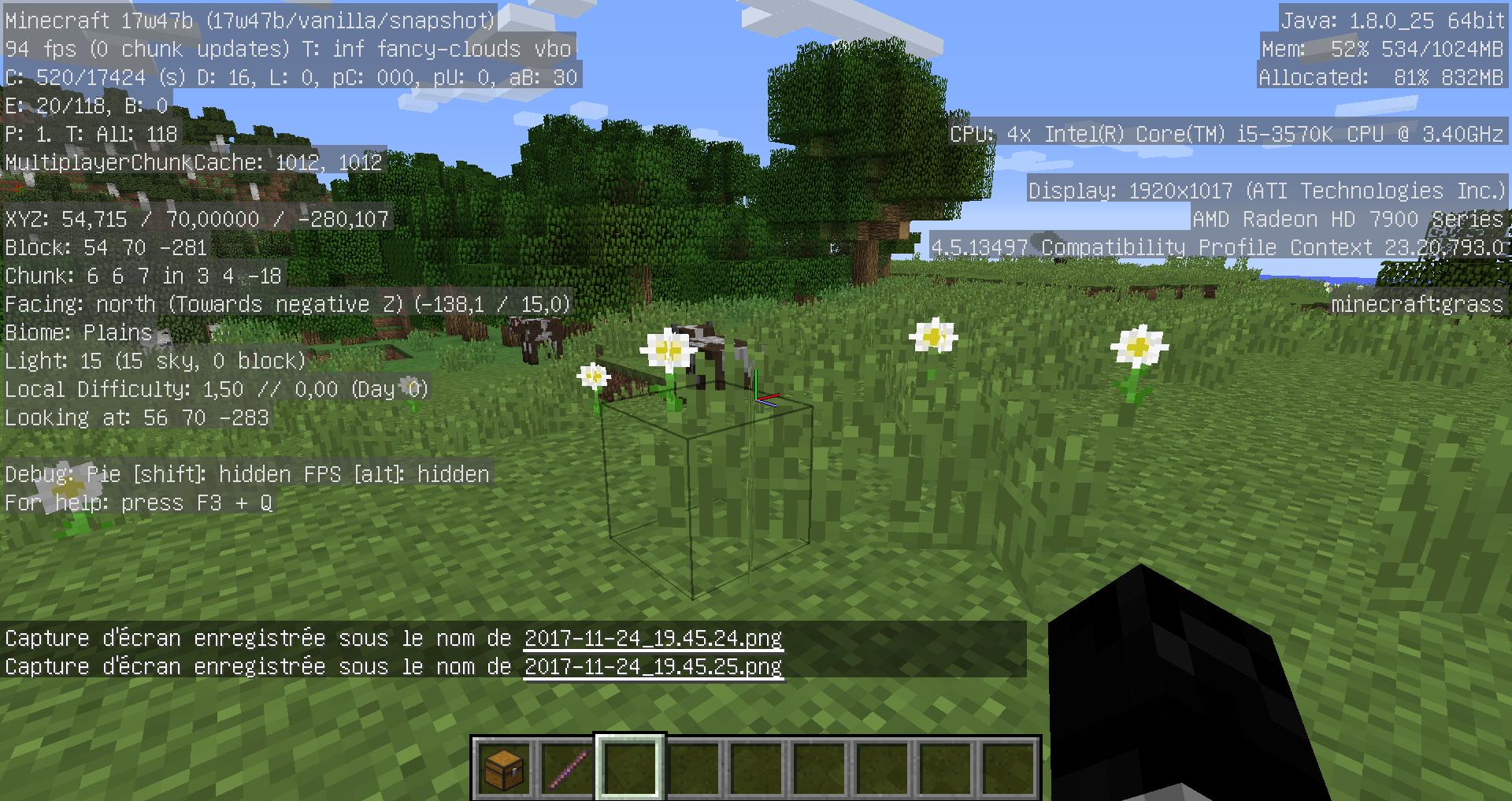 reload minecraft chunks