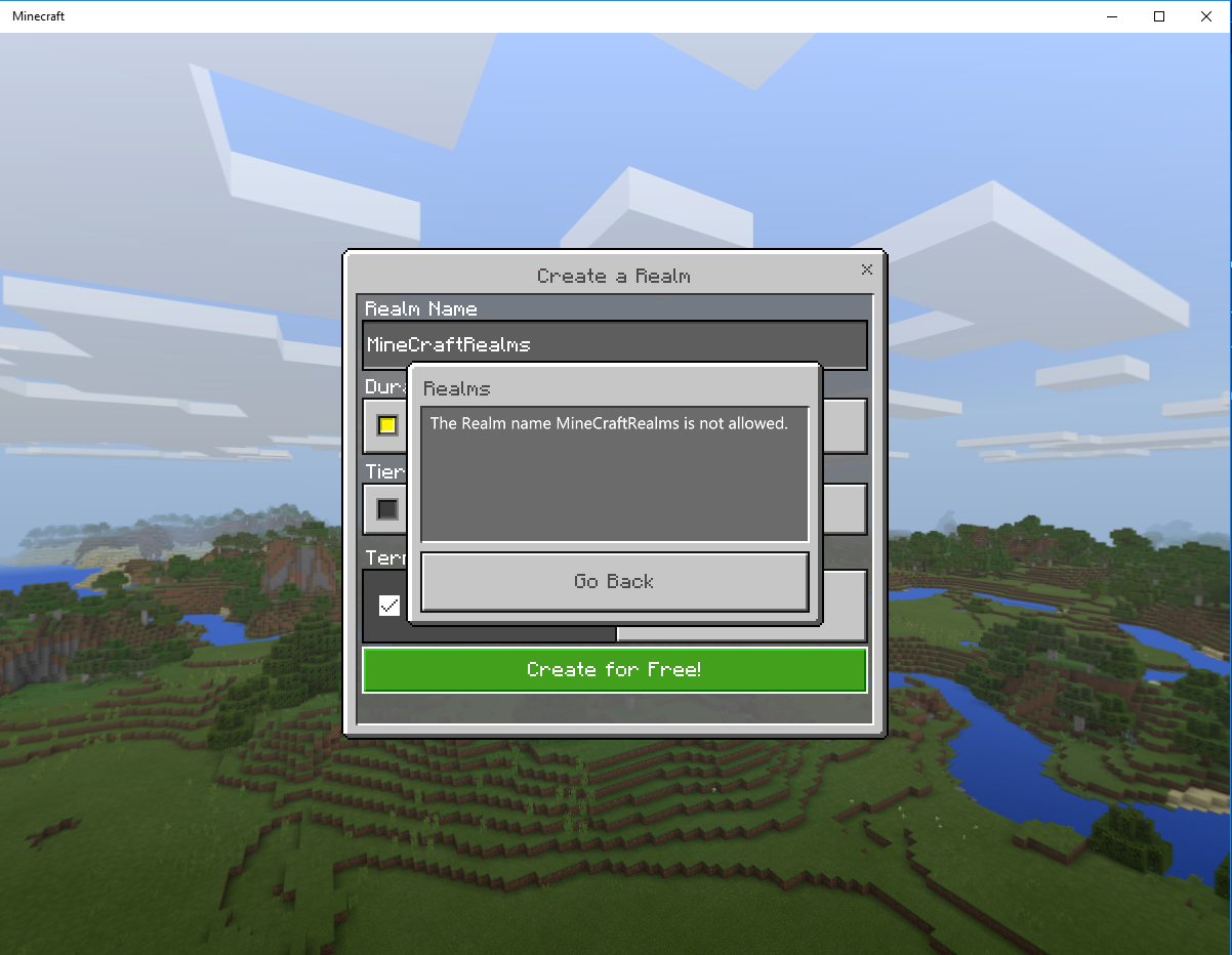 REALMS-10] Windows 10 Realms Realm name Not allowed - Jira