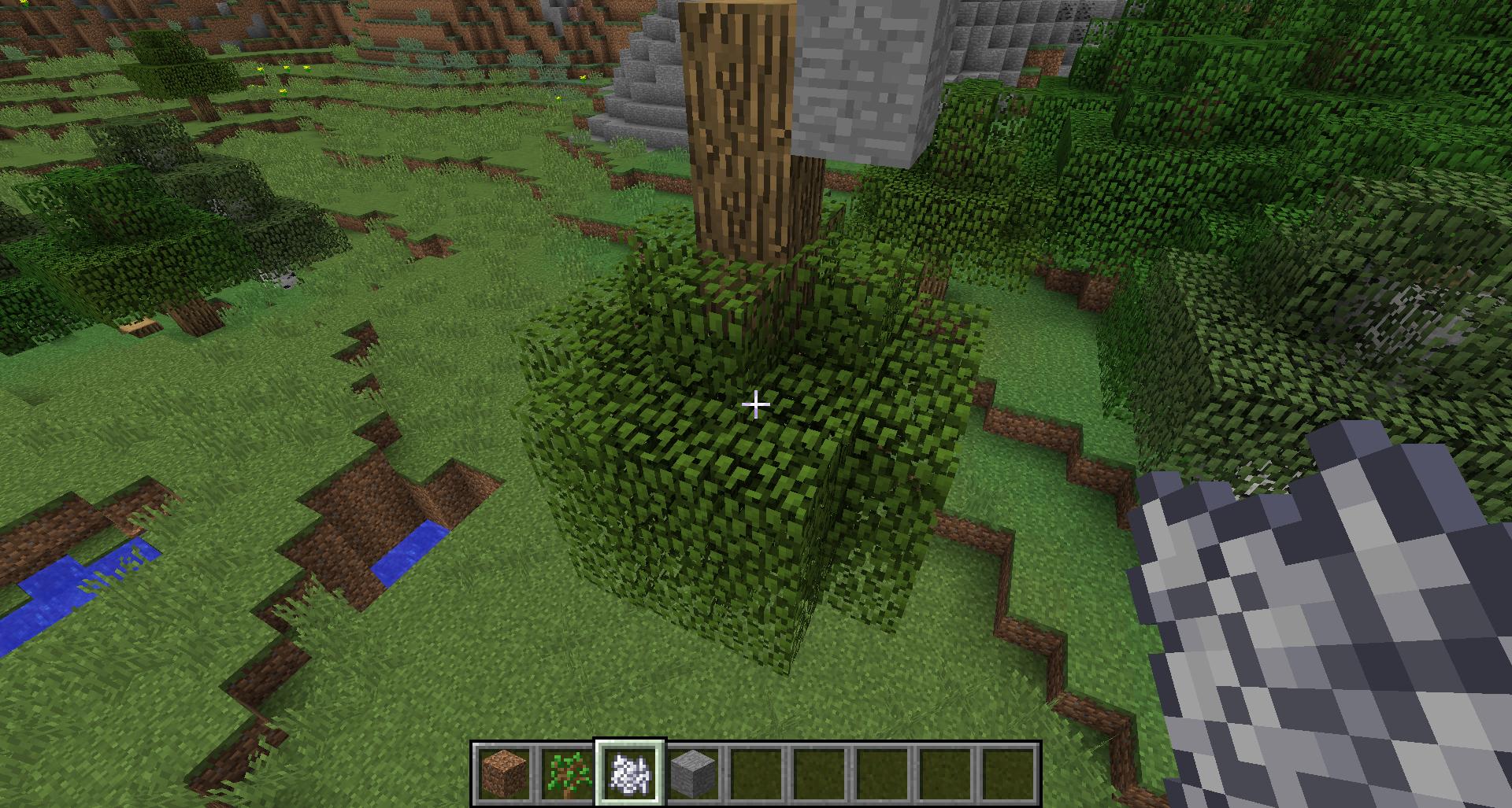 Как вывести новое дерево в майнкрафт