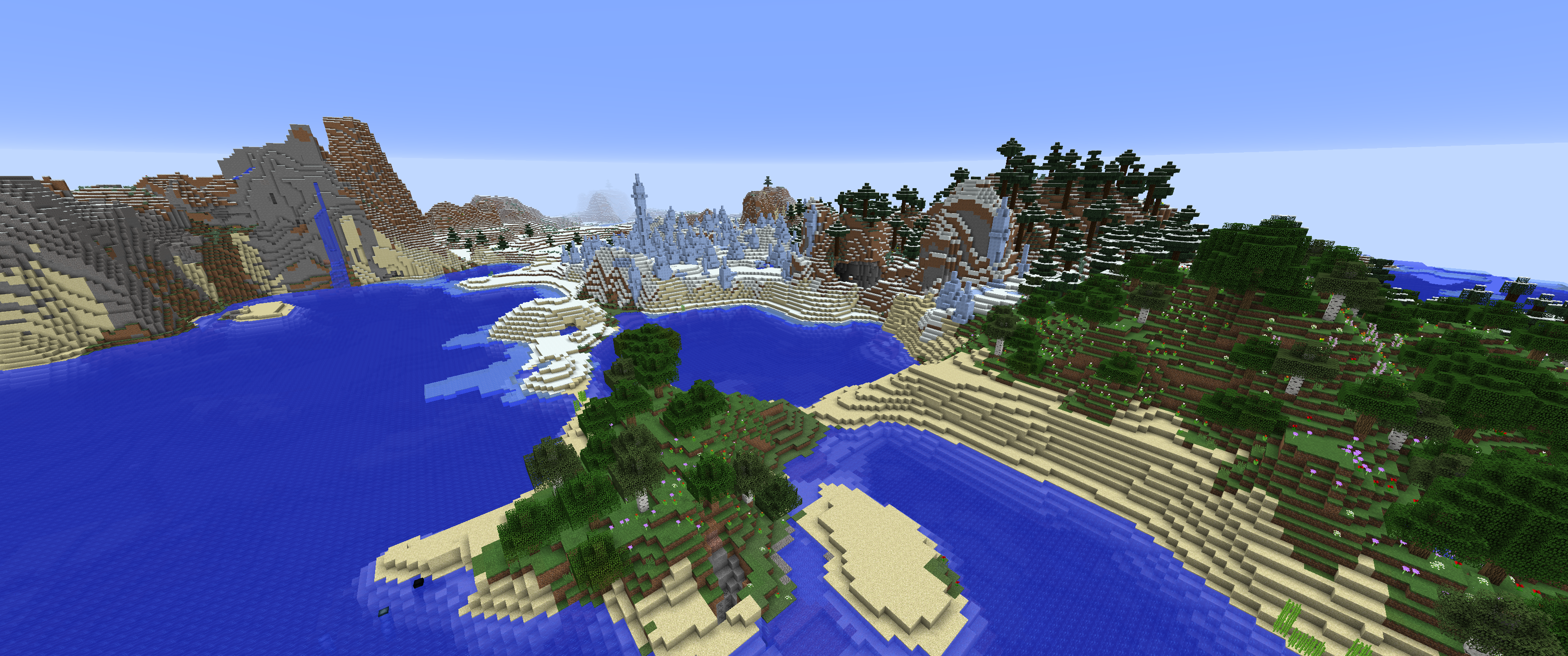 MC-125037] Biomes on land and landscape changed in new world