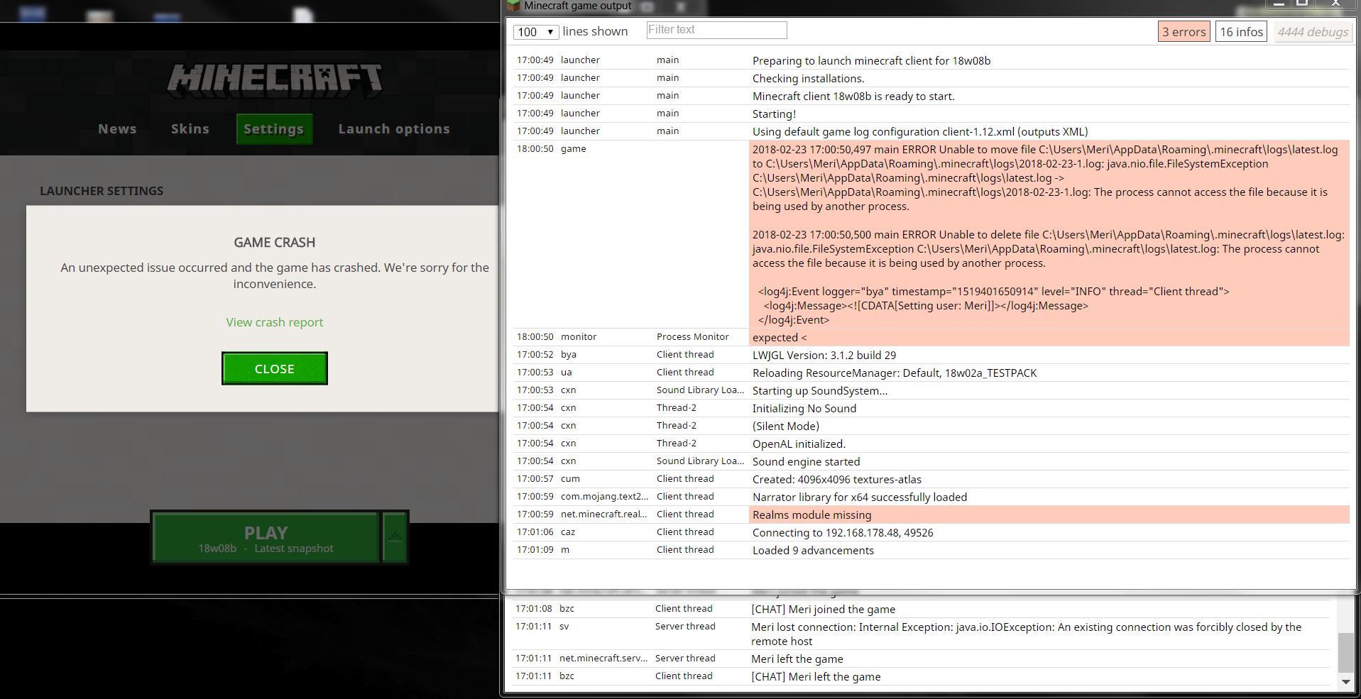MC Crash When Logging Into Multiplayer Without Logging Into - Minecraft lan spielen mit einem account
