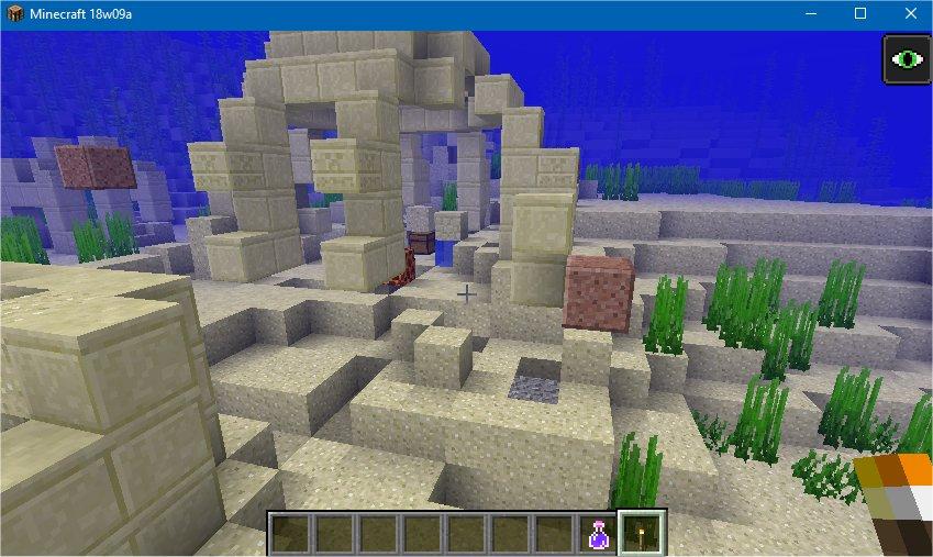 Mc 126569 Underwater Ruins Floating In The Water Jira