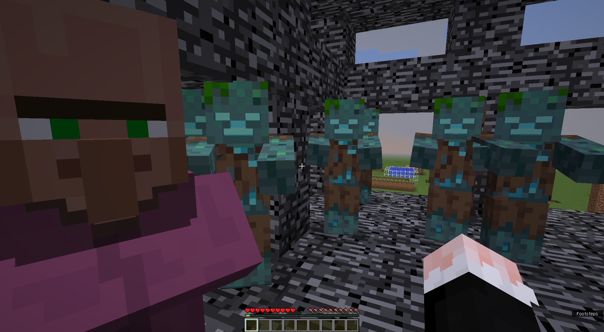 MC-127247] Unarmed drowned by spawn egg / command to spawn
