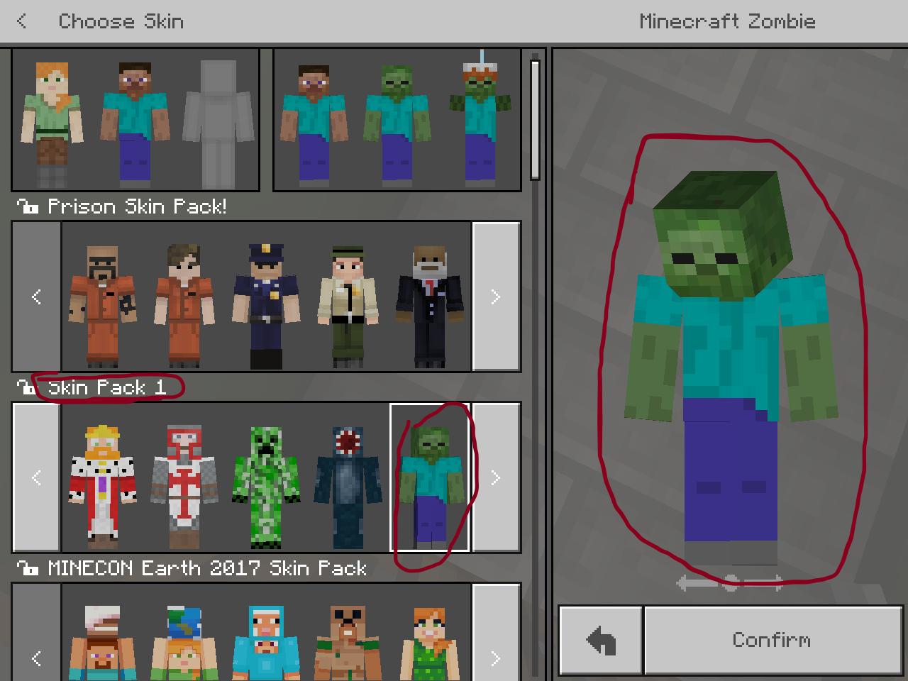 MCPE-100] Minecraft Skin Pack 10 Zombie Bug - Jira