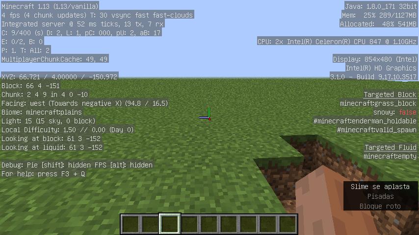 MC-134502] Massive Low of FPS Abnormal in Minecraft 1 13 - Jira