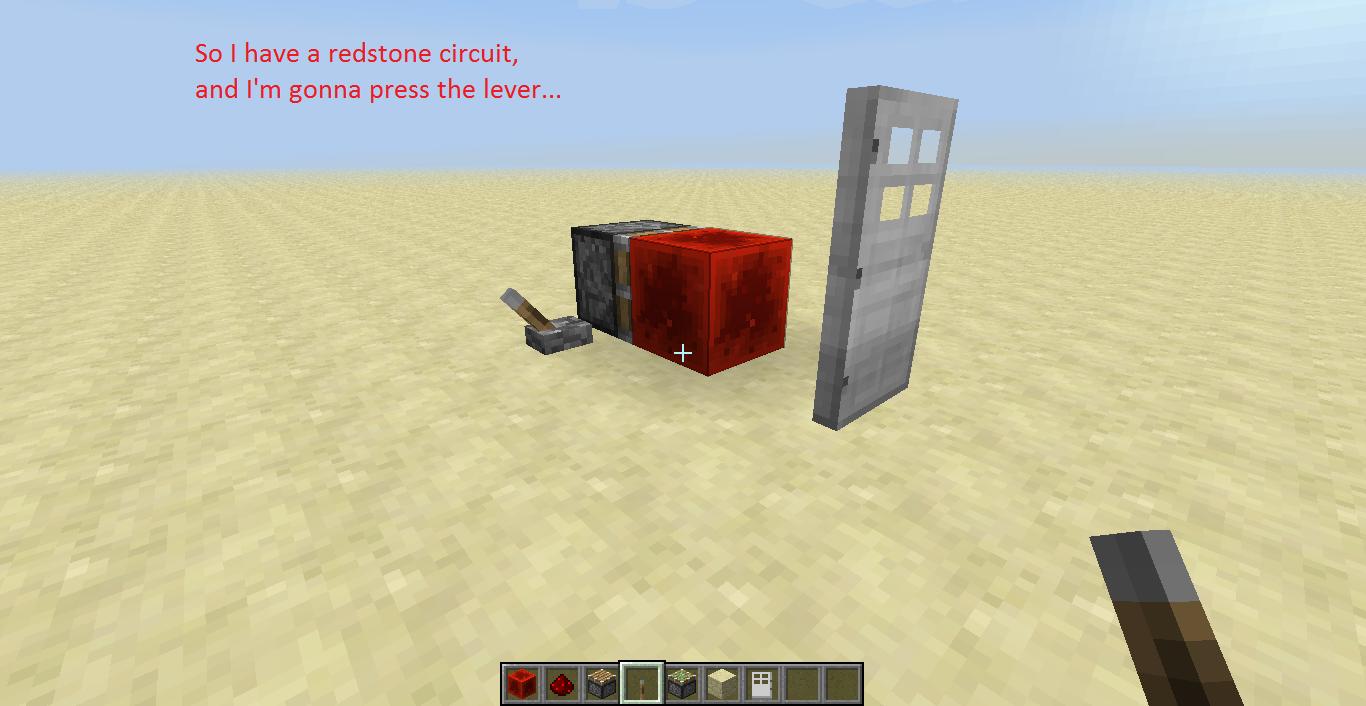 Mc 6952 Iron Door Stays Powered When Retrieving The Redstone Block