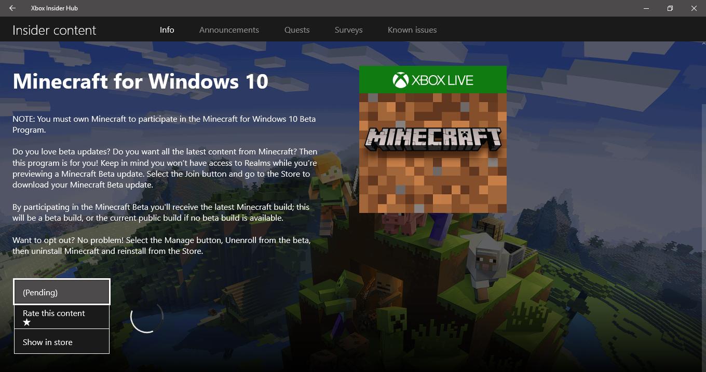 minecraft beta download