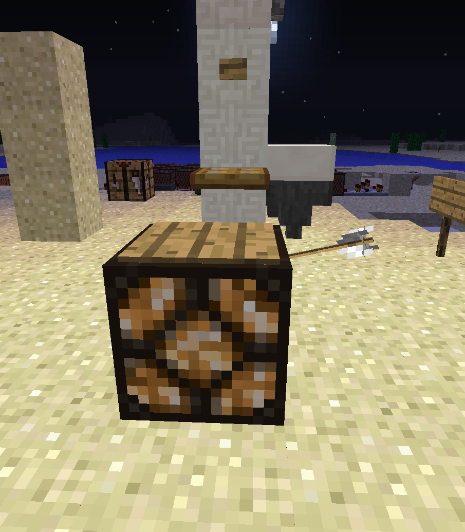 Mc wooden pressure plate activates when arrow hits