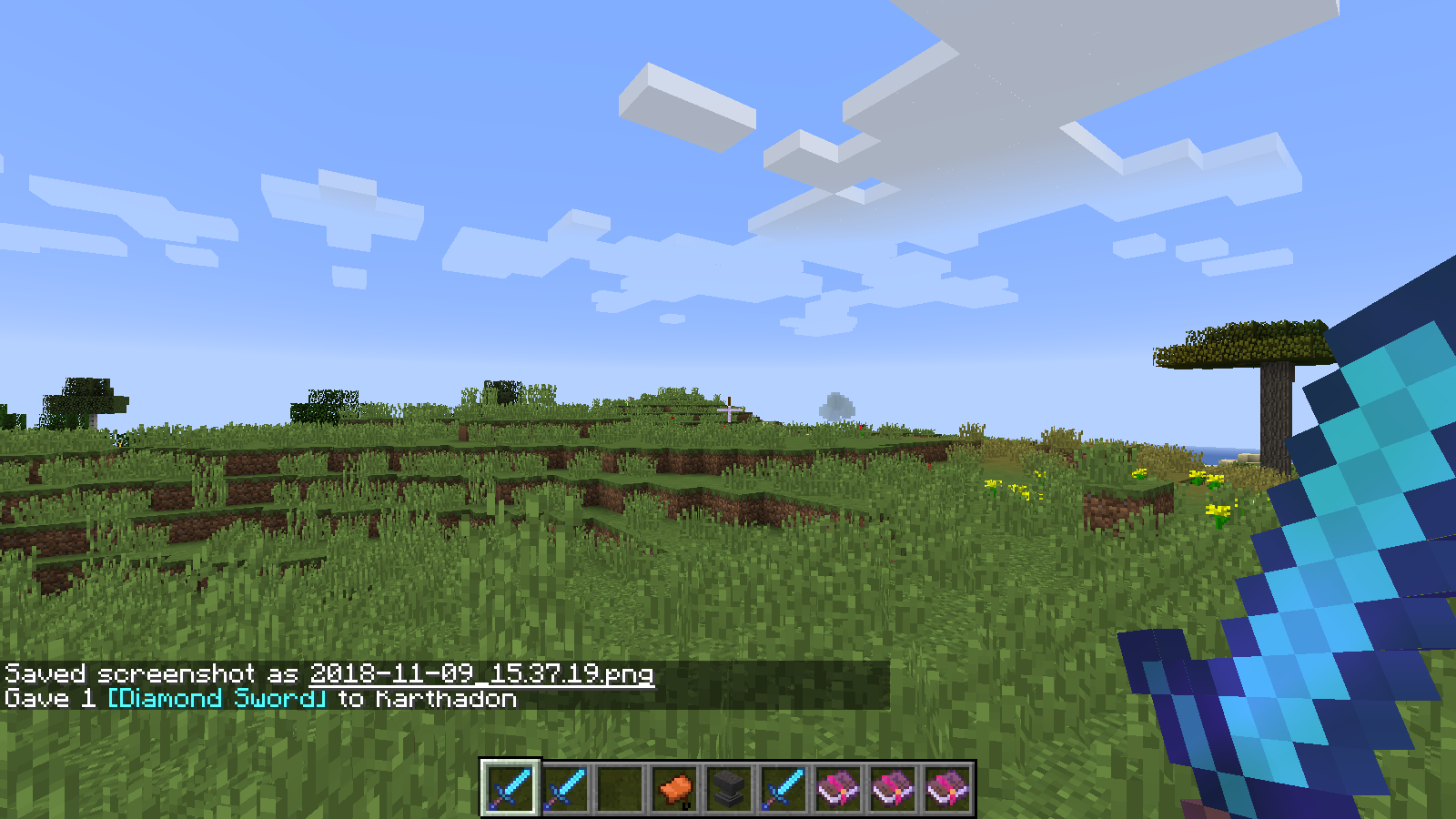 MC-139151] Can't spawn items with enchantment sweeping edge