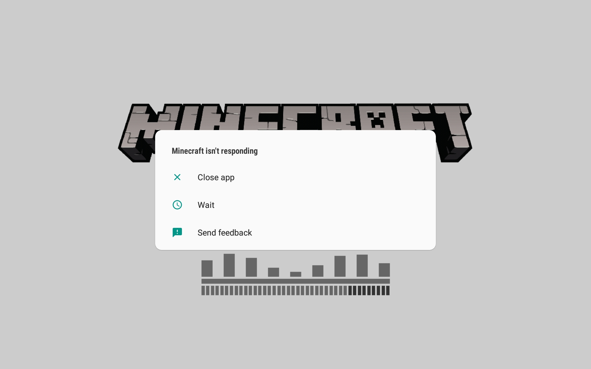 MCPE-35078] Wont go past Initial white Minecraft page - Jira