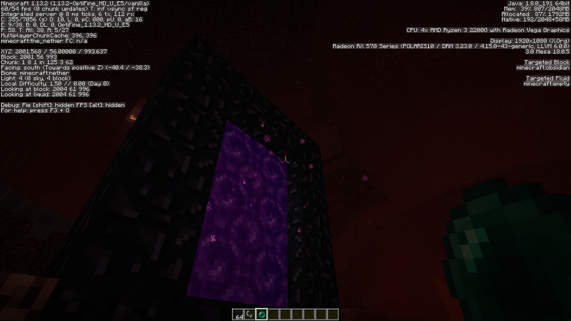 MC-142479] Throwing an ender Pearl in a nether portal sometimes