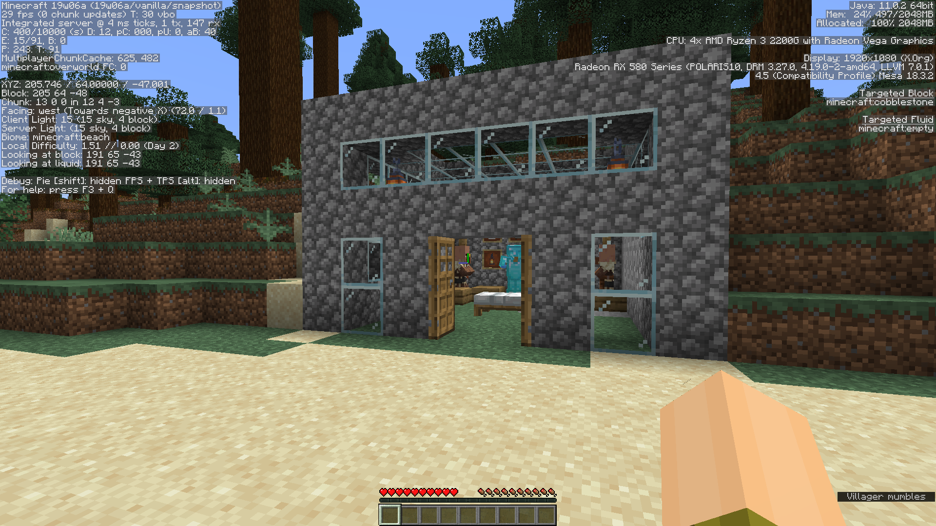 MC-143912] Item frames, armor stands, villagers near bed spawn