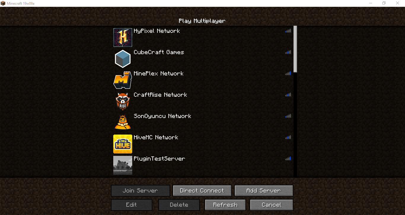 MC-125762] Sometimes a few Minecraft servers display