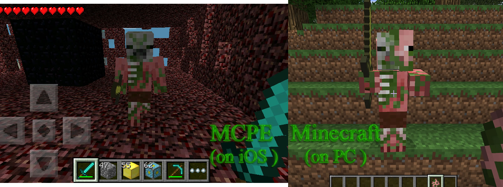 MCPE 1491 Bad Texture For Zombie Pigman