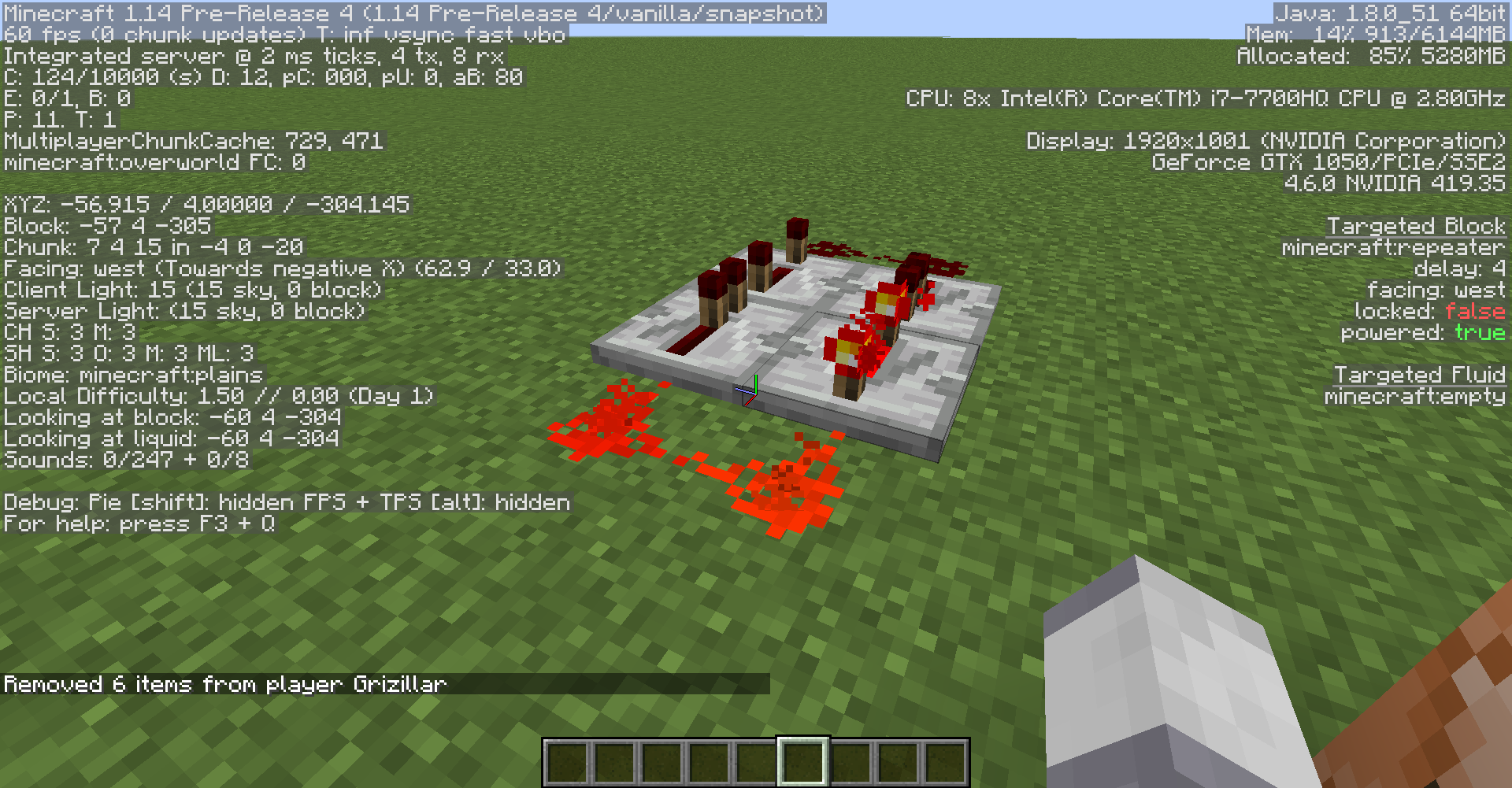 MC-148607] After player died, redstone loop and command