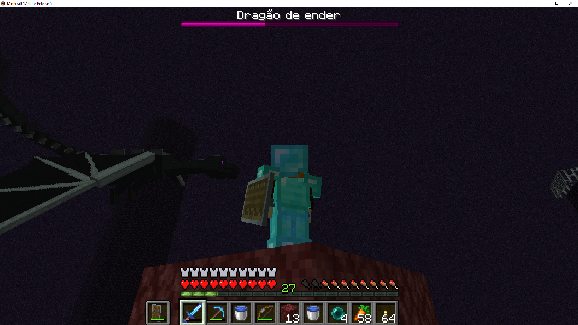 MC-148179] Ender dragon fly in circles after shooting projectile at