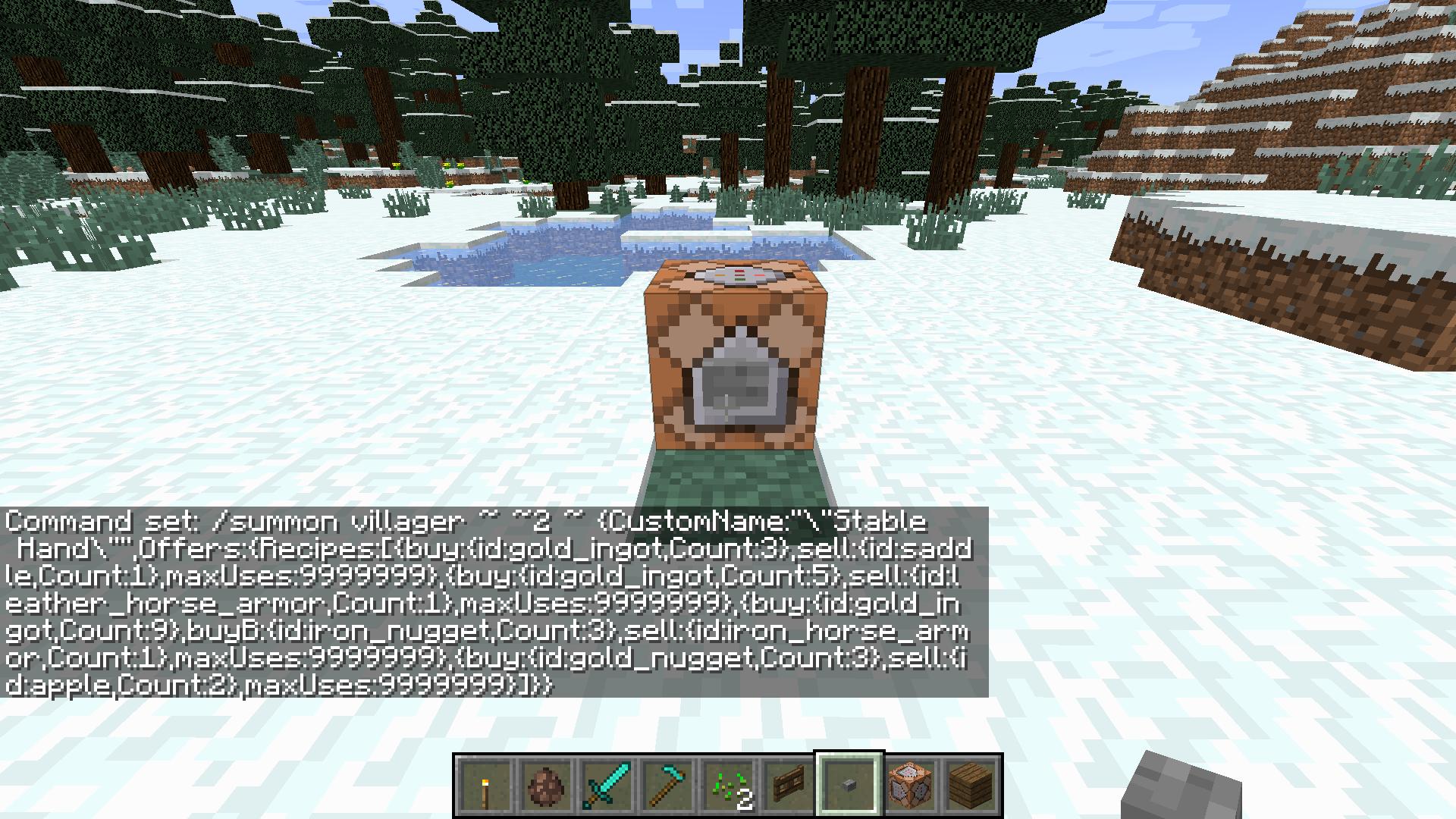 MC-10] Villagers lose custom trades given via command when
