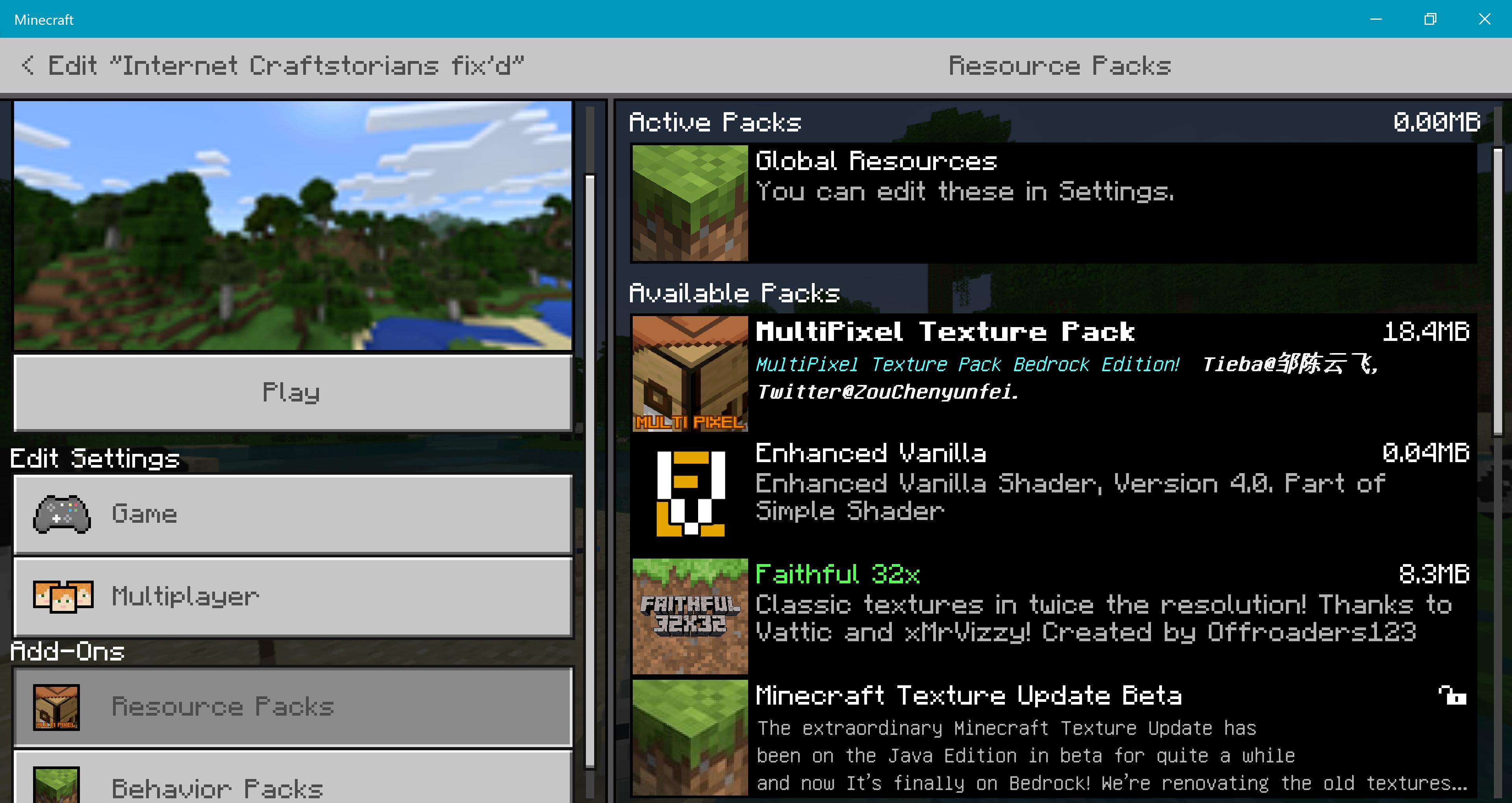 Minecraft bedrock faithful texture pack | Making a texture