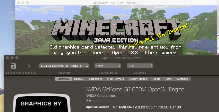 MC-101585] Minecraft not using the latest OpenGL that is installed