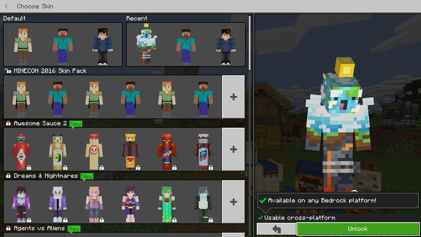 MCPE-11] Minecraft Earth Skin Randomly Locked - Jira