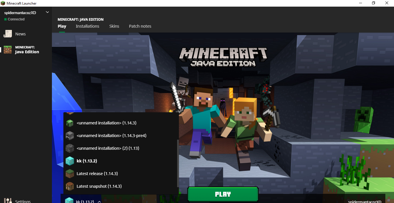 MC-155501 whenever i click play the launcher closes ...