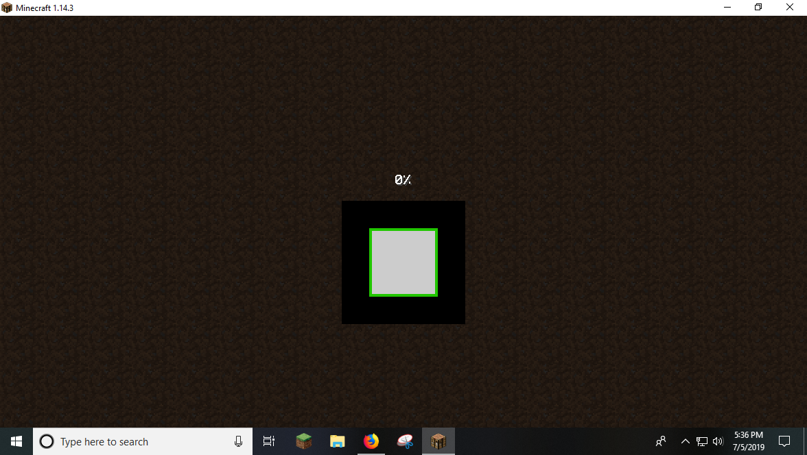 Mc 156093 Minecraft Loading Screen Stuck At 0 But It Shows