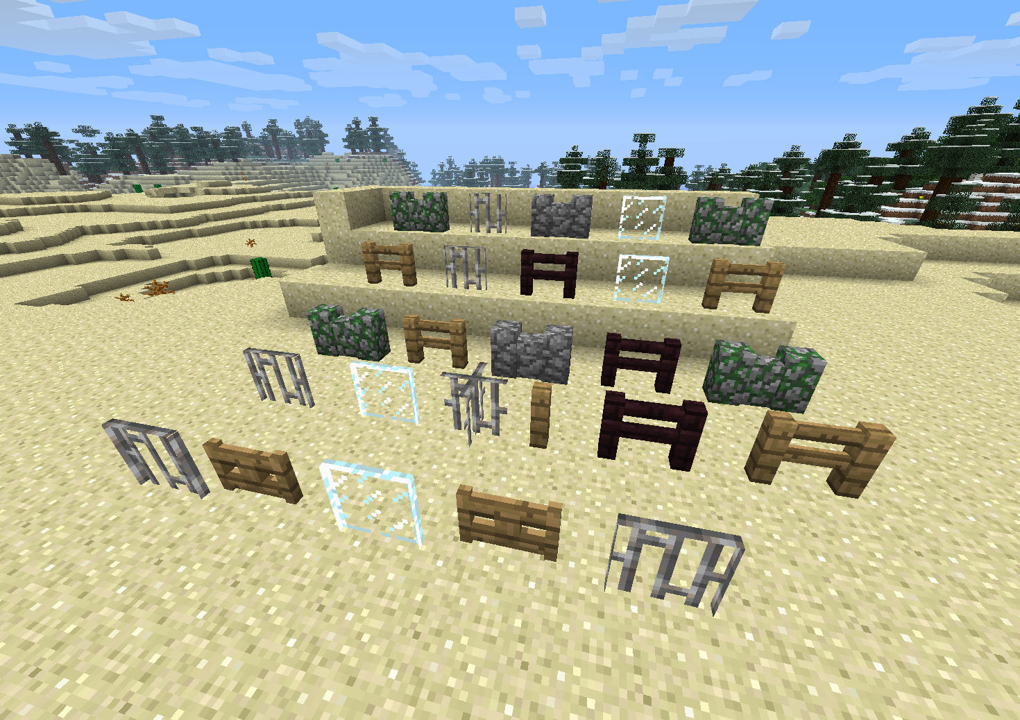 Minecraft fence Custom Borkedfencespng Jira Mojang Mc2938 Different Types Of Fences And Walls Dont Connect Jira