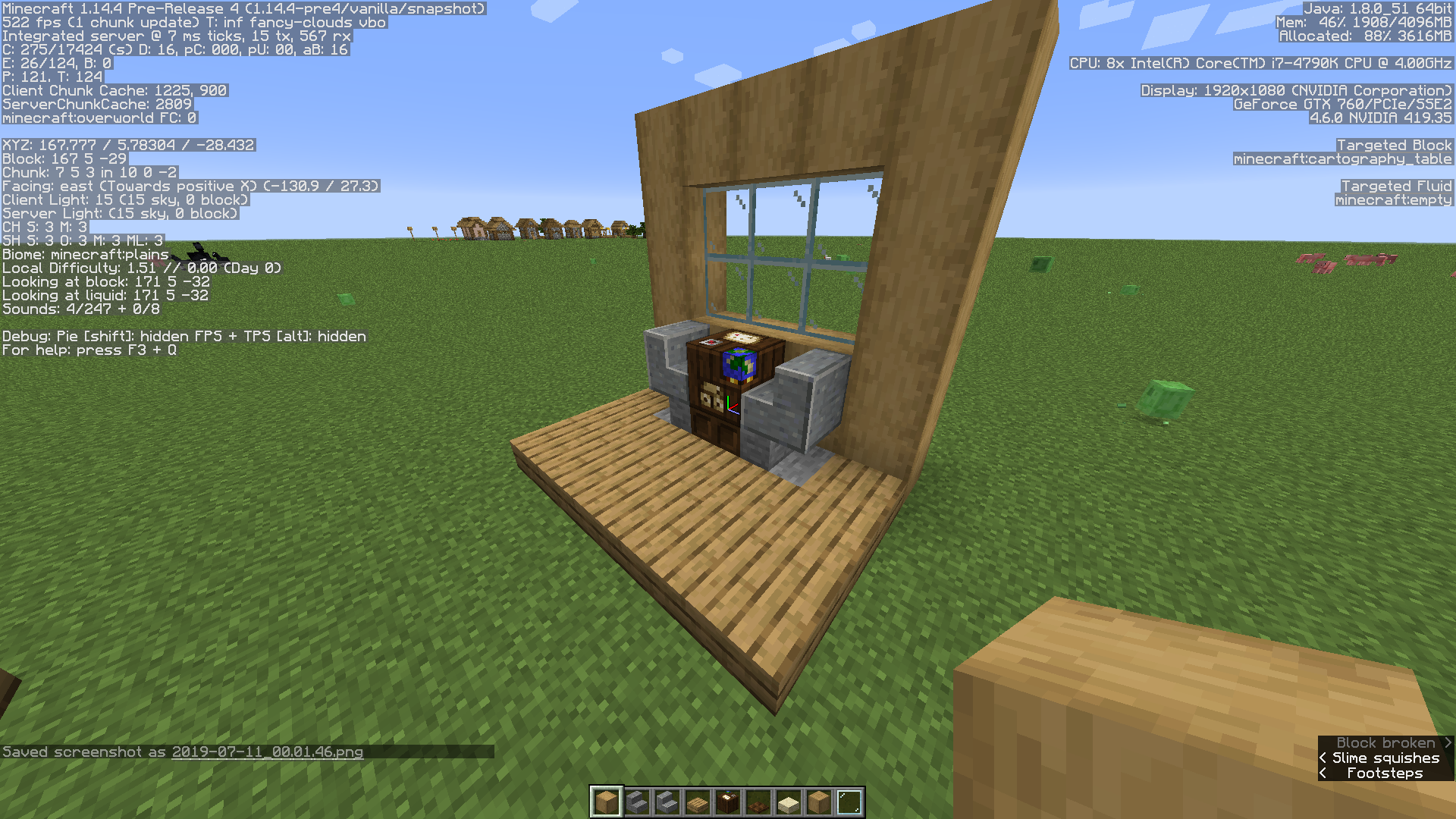 Mc 156466 Crafting Table Cartography Table Fletching Table And Smithing Table Cannot Be Rotated Jira