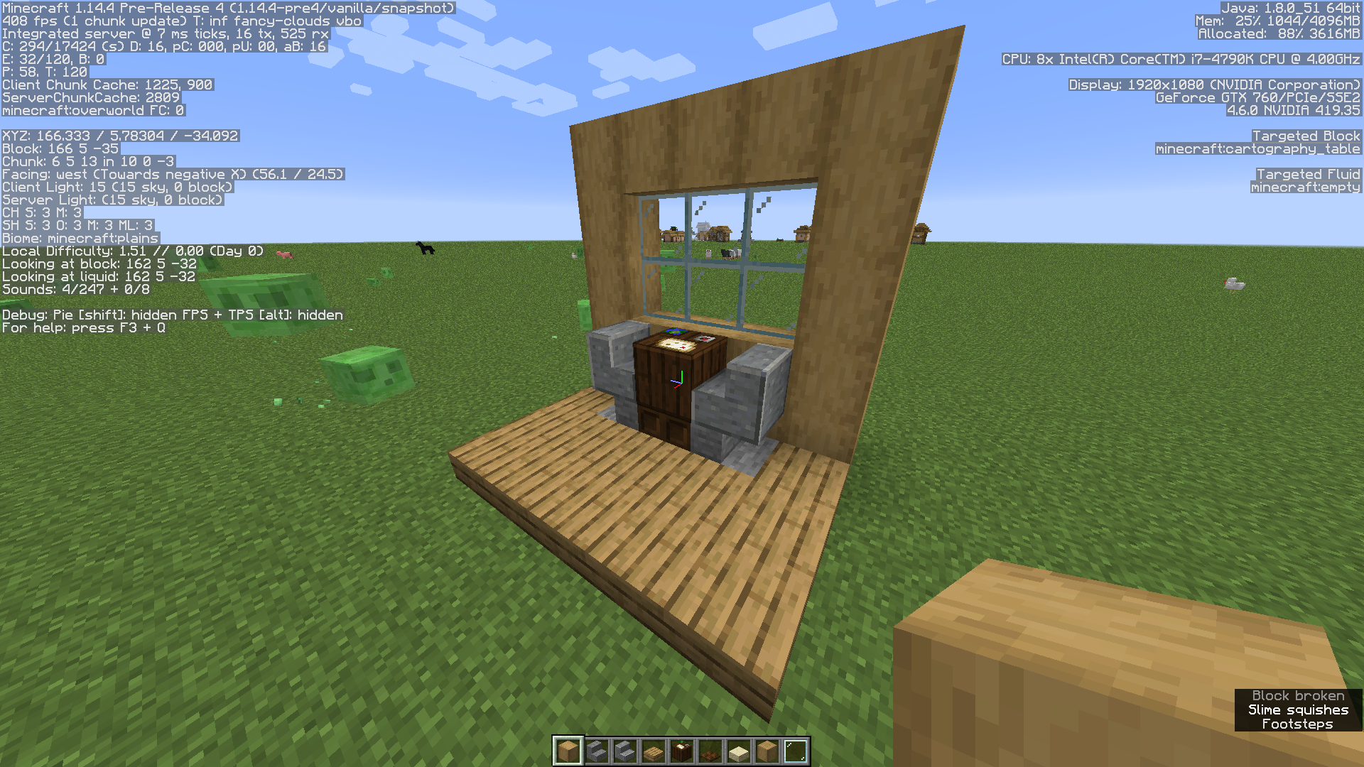 MC-9] Crafting table, cartography table, fletching table, and