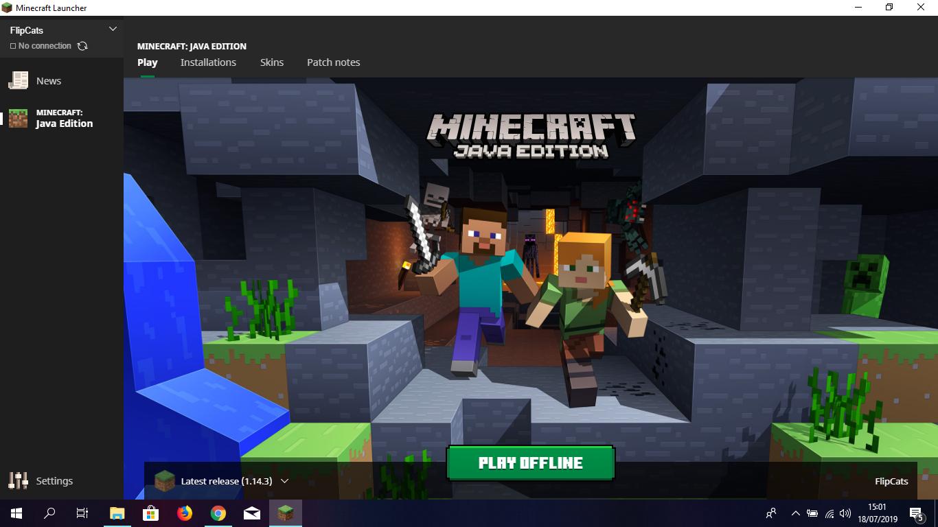 minecraft latest version pc offline